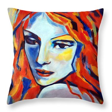 Throw Pillow featuring the painting Reverie by Helena Wierzbicki