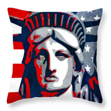 Reversing Liberty 1 Throw Pillow by Angelina Vick
