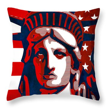 Reversing Liberty 2 Throw Pillow by Angelina Vick