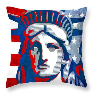 Reversing Liberty 3 Throw Pillow by Angelina Vick