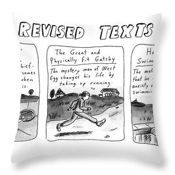 Revised Texts Throw Pillow