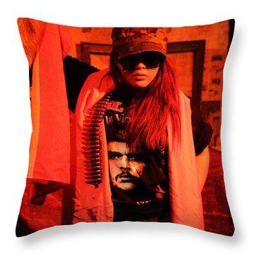 Throw Pillow featuring the photograph Revolution Is Art by Viktor Savchenko