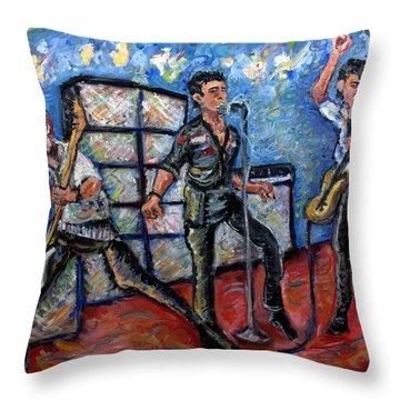 Revolution Rock The Clash Throw Pillow by Jason Gluskin