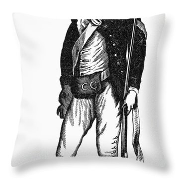 Revolutionary War Rifleman Throw Pillow by Granger
