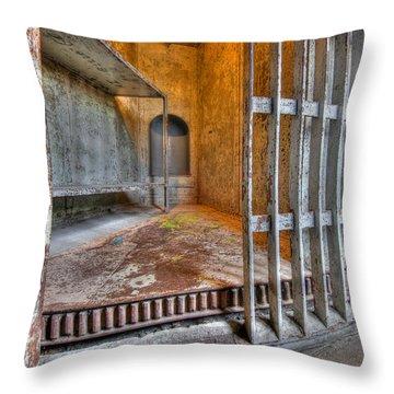 Revolving Jail Cell 1885 Throw Pillow