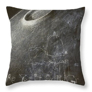 Throw Pillow featuring the mixed media Behold The Crater by Cliff Spohn