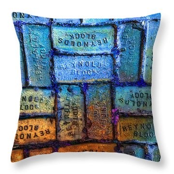 Reynolds Blocks - Vintage Art By Sharon Cummings Throw Pillow by Sharon Cummings