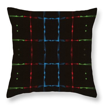 Throw Pillow featuring the digital art Rgb Network by Kevin McLaughlin
