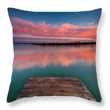 Rgb Sunset Throw Pillow by Davorin Mance
