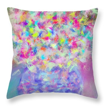 Rhapsody Bouquet Throw Pillow by Don Wright