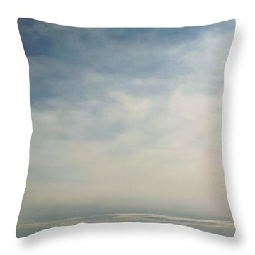 Rhapsody In Blue And White Throw Pillow by Steven Richman