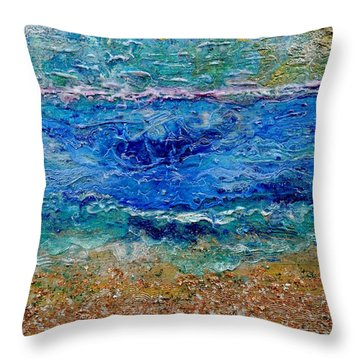 Rhapsody On The Sea  Throw Pillow