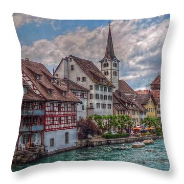 Throw Pillow featuring the photograph Rhine Bank by Hanny Heim
