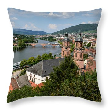 Rhine River Throw Pillow
