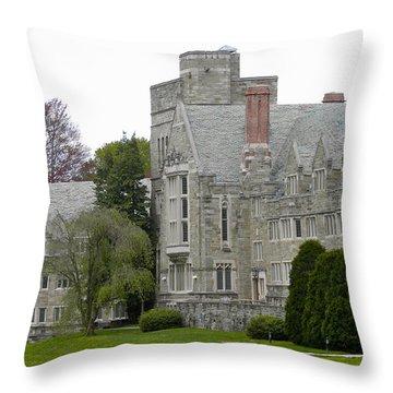 Rhoads Hall Bryn Mawr College Throw Pillow