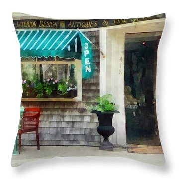 Rhode Island - Antique Shop Newport Ri Throw Pillow