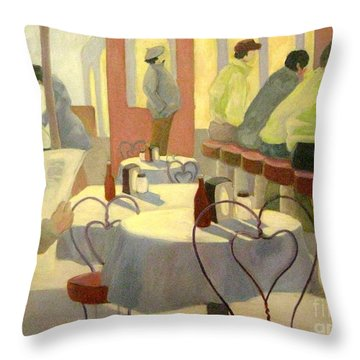Rhode Island Cafe Throw Pillow by Gretchen Allen