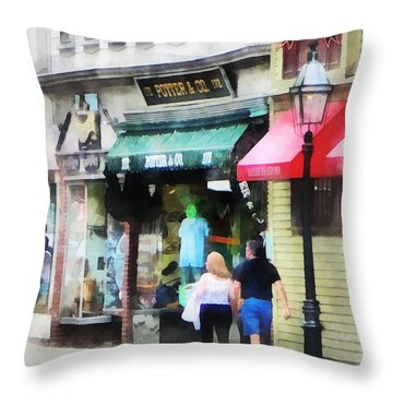 Rhode Island - Thames Street Newport Ri Throw Pillow