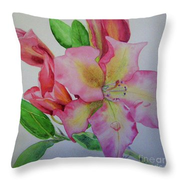 Rhodie With Dew I Throw Pillow