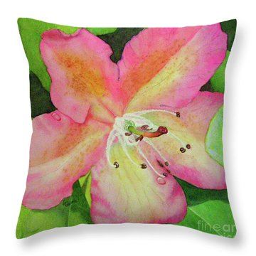Rhodie With Dew II Throw Pillow