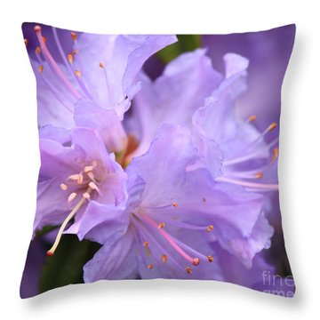 Rhododendron Flower Throw Pillow