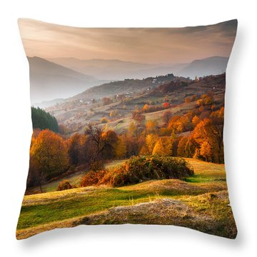 Rhodopean Landscape Throw Pillow