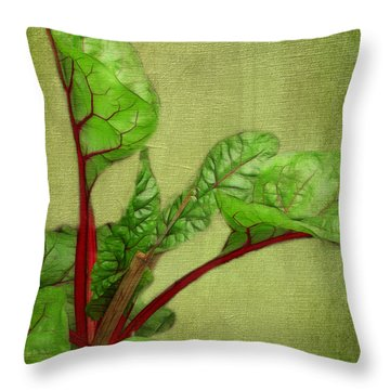 Rhubarb Throw Pillow
