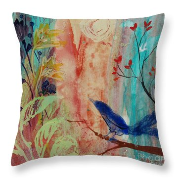 Throw Pillow featuring the painting Rhythm And Blues by Robin Maria Pedrero