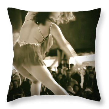 Rhythm Moves Throw Pillow