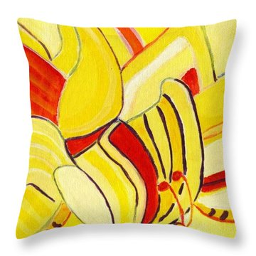 Rhythm Of Butterflies Throw Pillow by Olivia  M Dickerson