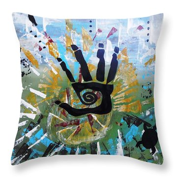 Rhythm Of Life Throw Pillow