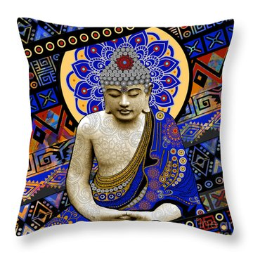 Rhythm Of My Mind Throw Pillow