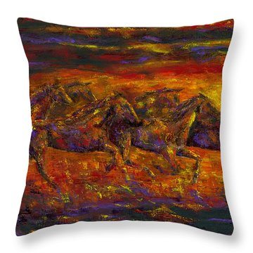 Rhythm Of The West Throw Pillow