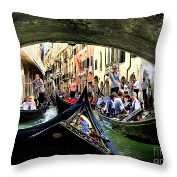 Throw Pillow featuring the photograph Rhythm Of Venice by Jennie Breeze