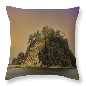 Rialto Beach - Little James Island Throw Pillow