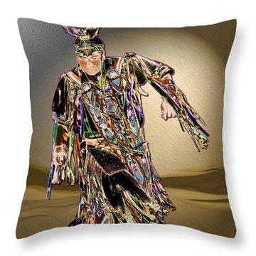 Ribbon Dancer Throw Pillow by Kae Cheatham