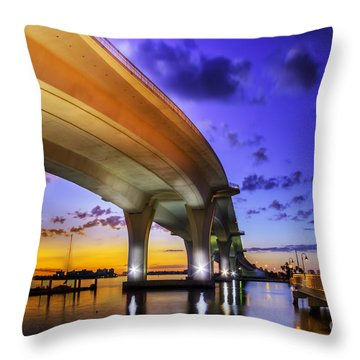 Ribbon In The Sky Throw Pillow by Marvin Spates