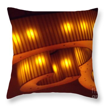 Throw Pillow featuring the photograph Glowing Ribbon by Lyric Lucas