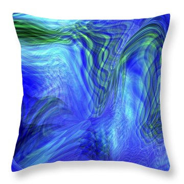 Throw Pillow featuring the digital art Ribbon Of Light by rd Erickson