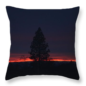Ribbon Of Sunset Throw Pillow