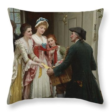 Ribbons And Laces For Very Pretty Faces Throw Pillow by Celestial Images