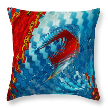 Ribbons Journey Throw Pillow