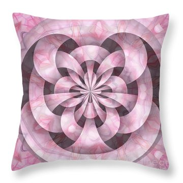 Ribbons Throw Pillow by Peggy Hughes