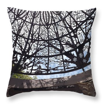 Rich In Beauty Throw Pillow