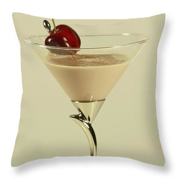 Rich Irish Cream Throw Pillow by Inspired Nature Photography Fine Art Photography