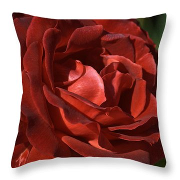 Throw Pillow featuring the photograph Rich Is Rose by Joy Watson