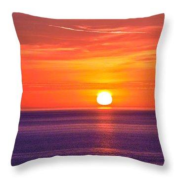 Rich Sunset Throw Pillow by Jocelyn Kahawai