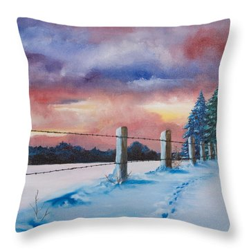 Rich Wintertide Throw Pillow