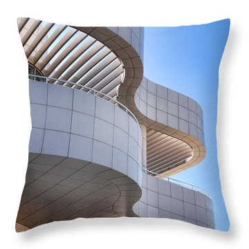 Richard Meier's Getty Architecture I Throw Pillow