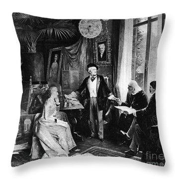 Richard Wagner Throw Pillow by Granger